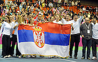 Serbian team Fed Cup Serbia vs Canada, World group II, first round, Novi Sad, Serbia, SPENS Sports Center, Sunday, February 06, 2011. (photo: Srdjan Stevanovic)(credit image & photo: Pedja Milosavljevic / +381 64 1260 959 / thepedja@gmail.com )