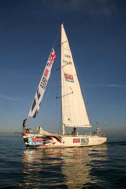 Our Isles and Oceans branded Clipper 68 in Largs, Scotland