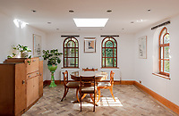 BNPS.co.uk (01202) 558833. <br /> Pic: UniquePropertyCompany/BNPS<br /> <br /> Pictured: Dining room. <br /> <br /> Haus proud...<br /> <br /> A house designed in German Bavarian style in the south London commuter belt is on the market for £1.1m.<br /> <br /> Holly Lodge, a former pheasant shooting lodge and coaching inn, belonged to an engineer who fell in love with German architecture when he worked in the country.<br /> <br /> He bought and completely redesigned the building in the 1980s.<br /> <br /> The property, which is in the borough of Bromley, has four bedrooms, two bathrooms and two reception rooms.