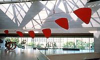 I.M. Pei: Washington, D.C. National Gallery, East Balcony. Calder Mobile.