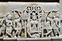Indien, Ranakpur (Rajasthan), Detail des Sonnentempels