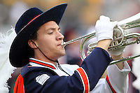Sept. 3, 2011 - Charlottesville, Virginia - USA; Virginia Cavaliers band member plays the horn during an NCAA football game against William & Mary at Scott Stadium. Virginia won 40-3. (Credit Image: © Andrew Shurtleff
