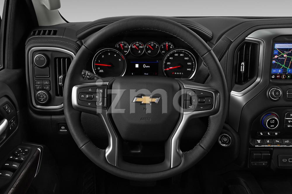Car pictures of steering wheel view of a 2020 Chevrolet Silverado-3500 LTZ 4 Door Pick-up Steering Wheel