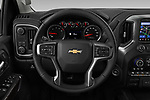 Car pictures of steering wheel view of a 2020 Chevrolet Silverado-3500 LTZ 4 Door Pick-up Steering Wheel