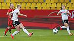 v.li.: Lea Schüller (Deutschland, 7) am Ball, Aktion, Action, DIE DFB-RICHTLINIEN UNTERSAGEN JEGLICHE NUTZUNG VON FOTOS ALS SEQUENZBILDER UND/ODER VIDEOÄHNLICHE FOTOSTRECKEN. DFB REGULATIONS PROHIBIT ANY USE OF PHOTOGRAPHS AS IMAGE SEQUENCES AN/OR QUASI-VIDEO., 21.02.2021, Aachen (Deutschland), Fussball, Länderspiel Frauen, Deutschland - Belgien <br /> <br /> Foto © PIX-Sportfotos *** Foto ist honorarpflichtig! *** Auf Anfrage in hoeherer Qualitaet/Aufloesung. Belegexemplar erbeten. Veroeffentlichung ausschliesslich fuer journalistisch-publizistische Zwecke. For editorial use only.