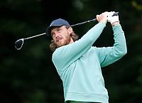 2nd July 2021; Mount Juliet Golf Club, Kilkenny, Ireland; Dubai Duty Free Irish Open Golf, Day Two; Tommy Fleetwood of England tees off on the 15th hole