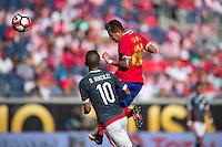 Orlando, Florida - Saturday, June 04, 2016: Costa Rican defender Ronald Matarrita (22) heads the ball during a Group A Copa America Centenario match between Costa Rica and Paraguay at Camping World Stadium.