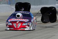 Feb. 27, 2011; Pomona, CA, USA; NHRA pro stock driver Greg Anderson during the Winternationals at Auto Club Raceway at Pomona. Mandatory Credit: Mark J. Rebilas-.