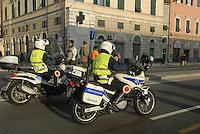 - Genoa, municipal police on motorcycle....- Genova, vigili urbani in moto