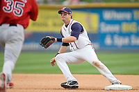 Manzella, Tommy 0201.jpg. Memphis Redbirds at Round Rock Express in Pacific Coast League Baseball. Dell Diamond on April 26th 2009 in Round Rock, Texas. Photo by Andrew Woolley.