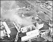 Liquid Air. Plant fire aerials. November 5, 1974""