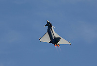 Typhoon EF-2000 Eurofighter from the German Air Force during a display at Rygge Air Show. Norway