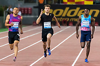 Andre De Grasse CAN, Christophe Lemaitre FRA, Aaron Brown CAN <br /> 200m Men <br /> Roma 08-06-2017 Stadio Olimpico <br /> Iaaf Diamond League Golden Gala <br /> Meeting Atletica Leggera - Track and Fields <br /> Foto Andrea Staccioli / Insidefoto