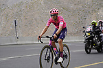 Neilson Powless (USA) EF Education-Nippo climbs the final 4km of Jais Mountain during Stage 5 of the 2021 UAE Tour running 170km from Fujairah to Jebel Jais, Ras Al Khaimah, UAE. 25th February 2021.  <br /> Picture: Eoin Clarke   Cyclefile<br /> <br /> All photos usage must carry mandatory copyright credit (© Cyclefile   Eoin Clarke)