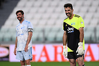 Gianluigi Buffon Andrea Agnelli during the charity football hearth match between Singers national Team and Champions for the medical research at Juventus Stadium in Torino (Italy), May 25th, 2021. Photo Daniele Buffa / Image Sport / Insidefoto