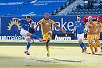 20.02.2021, xtgx, Fussball 3. Liga, FC Hansa Rostock - SV Waldhof Mannheim, v.l. Nico Neidhart (Hansa Rostock, 7) schiesst Tor, Torschuetze, erzielt Tor, Treffer, scores the goal 1:0<br /> <br /> (DFL/DFB REGULATIONS PROHIBIT ANY USE OF PHOTOGRAPHS as IMAGE SEQUENCES and/or QUASI-VIDEO)<br /> <br /> Foto © PIX-Sportfotos *** Foto ist honorarpflichtig! *** Auf Anfrage in hoeherer Qualitaet/Aufloesung. Belegexemplar erbeten. Veroeffentlichung ausschliesslich fuer journalistisch-publizistische Zwecke. For editorial use only.