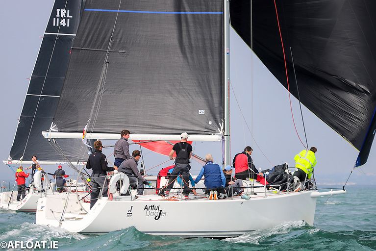 Finbarr O'Regan's Artful Dodjer from Kinsale Yach Club is one of two Cork entries competing in this weekend's Royal Irish Yacht club hosted J/109 National Championships