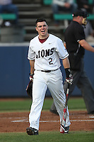 Sean Watkins (2) of the Loyola Marymount Lions bats during a game against the TCU Horned Frogs at Page Stadium on March 16, 2015 in Los Angeles, California. TCU defeated Loyola, 6-2. (Larry Goren/Four Seam Images)