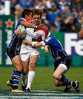 Photo: Richard Lane/Richard Lane Photography. Bath Rugby v Biarritz Olympique. Heineken Cup. 10/10/2010. Biarritz' Dane Haylett-Petty attacks.