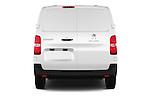 Straight rear view of 2016 Peugeot Expert Premium 4 Door Cargo Van Rear View  stock images
