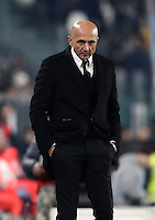 Calcio, Serie A: Juventus vs Roma. Torino, Juventus Stadium,17 dicembre 2016. <br /> Roma's coach Luciano Spalletti follows the game during the Italian Serie A football match between Juventus and Roma at Turin's Juventus Stadium, 17 December 2016.<br /> UPDATE IMAGES PRESS/Isabella Bonotto