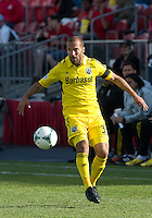 18 May 2013: Columbus Crew forward Federico Higuain #33 in action during an MLS game between the Columbus Crew and Toronto FC at BMO Field in Toronto, Ontario Canada..The Columbus Crew won 1-0...