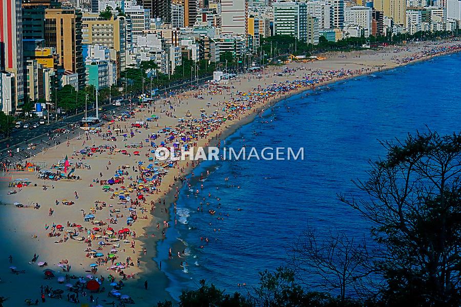Praia do Leblon e Praia de Ipanema, Rio de Janeiro. 2019. Foto Juca Martins