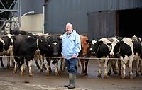 Laurence Harris of Daioni, an organic milk farm near Boncath in Pembrokeshire, Wales, UK. Friday 17 November 2017