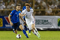 SAN SALVADOR, EL SALVADOR - SEPTEMBER 2: Josh Sargent #9 of the United States moves with the ball during a game between El Salvador and USMNT at Estadio Cuscatlán on September 2, 2021 in San Salvador, El Salvador.