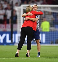 DECINES-CHARPIEU, FRANCE - JULY 02: USWNT celebrate during a 2019 FIFA Women's World Cup France Semi-Final match between England and the United States at Groupama Stadium on July 02, 2019 in Decines-Charpieu, France.