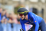 Edoardo Affini (ITA) in action during the Men Elite Individual Time Trial of the UCI World Championships 2019 running 54km from Northallerton to Harrogate, England. 25th September 2019.<br /> Picture: Eoin Clarke | Cyclefile<br /> <br /> All photos usage must carry mandatory copyright credit (© Cyclefile | Eoin Clarke)