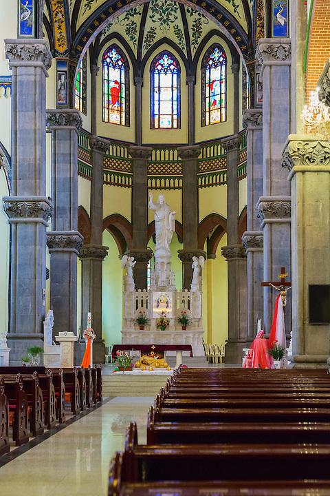 St. Joseph's Cathedral Interior.  Jinan (Tsinan).
