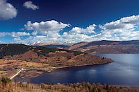 Loch Laich, Loch Fyne and the Arrochar Alps from Dun na Cuaiche, Inveraray, Argyll & Bute