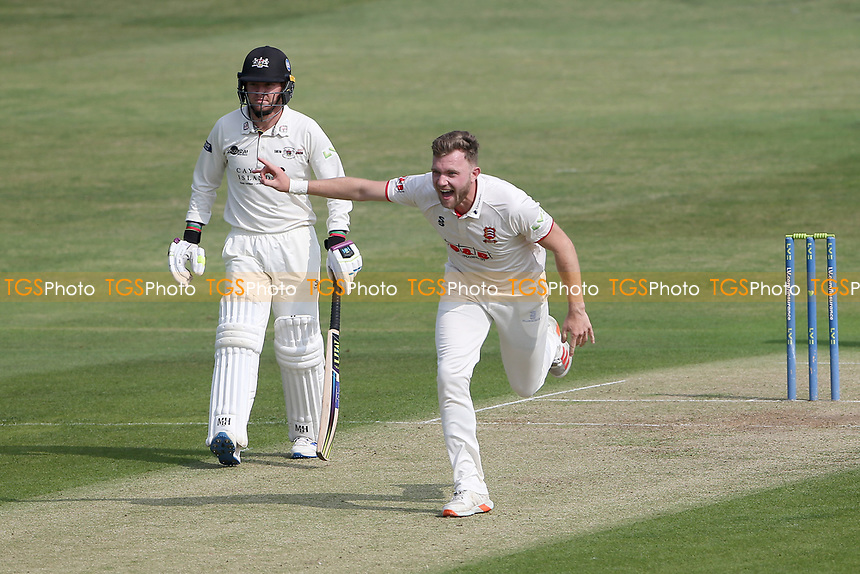 Sam Cook of Essex claims the wicket of Graeme van Buuren during Essex CCC vs Gloucestershire CCC, LV Insurance County Championship Division 2 Cricket at The Cloudfm County Ground on 5th September 2021