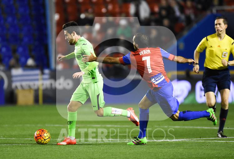 Levante's    and  Getafe's   during La Liga match. February 19, 2016. (ALTERPHOTOS/Javier Comos)