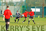 Park FC's Mervin Shalemba controls the ball as they try to get forward against St Marys of Cork in the FAI Youths Cup game in Christy Leahy Park on Sunday.