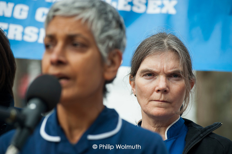 A rally of residents and health workers called to protest at proposed closures of A&E departments at Hammersmith and Charing Cross hospitals.