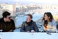 Kev Adams - Manon Azem - Come Levin - ConfÈrence de presse pour l'avant-premiËre du film 'Gangsterdam' ‡ Marseille, France, 16/03/2017. # CONFERENCE DE PRESSE DU FILM 'GANGSTERDAM' A MARSEILLE