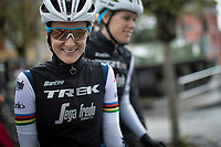 Elizabeth Deignan (GBR/Trek-Segafredo) pre race<br /> <br /> <br /> 3th Liège-Bastogne-Liège-Femmes 2019 (1.WWT)<br /> 1 Day Race: Bastogne – Liège 138,5km<br /> <br /> ©kramon