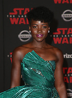 LOS ANGELES, CA - DECEMBER 9: Lupita Nyong'o, at Premiere Of Disney Pictures And Lucasfilm's 'Star Wars: The Last Jedi' at Shrine Auditorium in Los Angeles, California on December 9, 2017. Credit: Faye Sadou/MediaPunch /NortePhoto.com NORTEPHOTOMEXICO