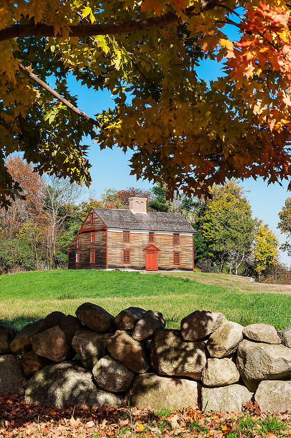 Captain William Smith House, Battle Road Trail between Lexington and Concord, Minute Man National Historical Park, Massachusetts, USA