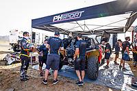 31st December 2020, Jeddah, Saudi Arabian. The vehicle and river shakedown for the 2021 Dakar Rally in Jeddah; 314 Despres Cyril fra, Horn Mike swi, Peugeot, PH Abu Dhabi Racing