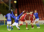 Aberdeen v St Johnstone…26.12.20   Pittodrie      SPFL<br />Shaun Rooney is fouled by Sam Cosgrove<br />Picture by Graeme Hart.<br />Copyright Perthshire Picture Agency<br />Tel: 01738 623350  Mobile: 07990 594431