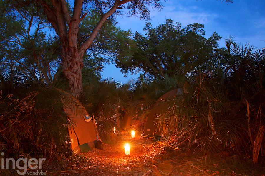 Campsite in the Okavango Delta, Botswana