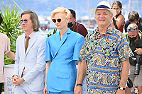 CANNES, FRANCE. July 13, 2021: Wes Anderson, Tilda Swinton & Bill Murray at the photocall for Wes Anderson's The French Despatch at the 74th Festival de Cannes.<br /> Picture: Paul Smith / Featureflash