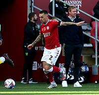 31st October 2020; Ashton Gate Stadium, Bristol, England; English Football League Championship Football, Bristol City versus Norwich; Jack Hunt of Bristol City on the ball
