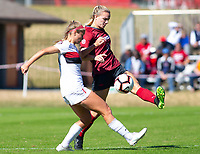 Georgia Bulldogs vs Arkansas Razorback Women's Soccer -   Marissa Kinsey (2) kicks the ball gainst Georgia at Razorback Field, Fayetteville, AR on Sunday, October 27, 2019 - Special to NWA Democrat Gazette David Beach
