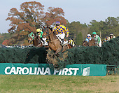 Bill Pape's 10-year-old Mixed Up unleashed an incredible late rally through traffic under jockey Danielle Hodson to edge Red Letter Day in the $100,00 Marion DuPont Scott Colonial Cup at Springdale Race Course in Camden, S.C., on Saturday Nov. 21, 2009. The win was Mixed Up's second  Grade 1 (the AP Smithwick at Saratoga being the other) of the year, and all but assures the Jonathan Sheppard-trainee of an Eclipse Award.
