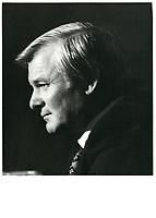 Le Premier Ministre ontarien Bill Davis<br /> , 5 mai 1980<br /> <br /> PHOTO :  Agence Quebec Presse