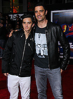 """HOLLYWOOD, CA - MARCH 06: Georges Marini, Gilles Marini at the Los Angeles Premiere Of DreamWorks Pictures' """"Need For Speed"""" held at TCL Chinese Theatre on March 6, 2014 in Hollywood, California. (Photo by Xavier Collin/Celebrity Monitor)"""